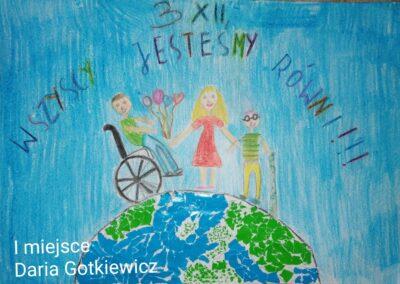Międzynarodowy Dzień Osób Niepełnosprawnych – konkurs plastyczny